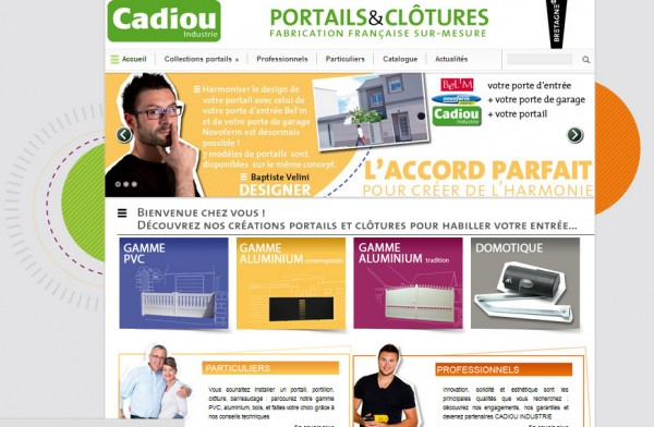 site internet cadiou industrie portails et clotures